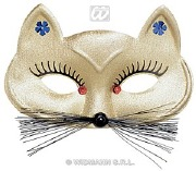Gold Cat Masquerade Mask