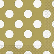 Gold Dots Napkins