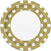 Gold Dots Plates