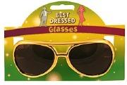 Gold Elvis Glasses