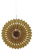 Gold Fan Decoration
