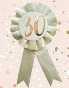 Gold 30th Rosette