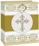 Gold Cross Gift Bag