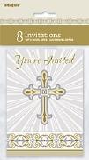 Gold Cross Invitations
