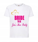 Gold Heart Bride T-Shirt