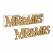 Gold Mr & Mrs Sign