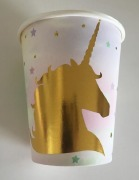 Gold Unicorn Party Cups