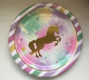 Gold Unicorn Party Plates