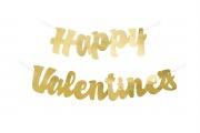 Gold Valentines Banner
