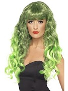 Green Curly Wig