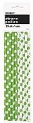 Green Dots Drinking Straws