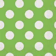 Green Dots Paper Napkins