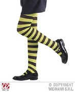 Green Kids Striped Tights