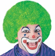 Green Curly Clown Wig