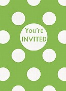 Green Dots Party Invitations