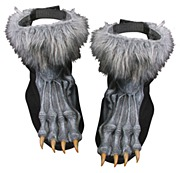 Grey Werewolf Shoe Covers