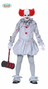 Grey Killer Clown Costume