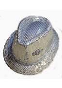 Silver Sequin Gangster Hat