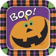 Halloween Boo Plates