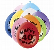 Happy 40th Birthday Balloons
