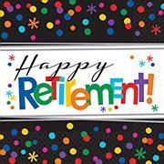 Happy Retirement Napkins
