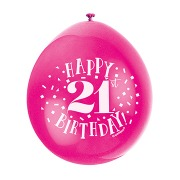Happy 21st Birthday Balloons