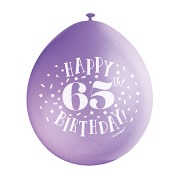 Happy 65th Birthday Balloons