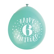 Happy 6th Birthday Balloons