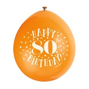Happy 80th Birthday Balloons