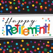 Happy Retirement Napkins