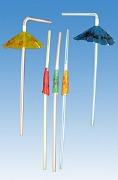 Hawaiian Umbrella Straws