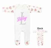 Personalised Heart Baby Grow