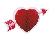 Heart Honeycomb Decoration