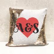Heart Sequin Cushion