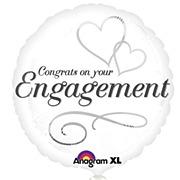 Hearts Engagement Foil Balloon