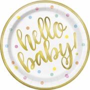 Hello Baby Plates