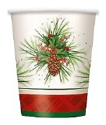 Holly Christmas Party Cups