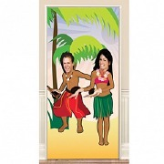 Hula Dancing Door Banner