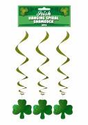 Irish Hanging Spiral Shamrocks