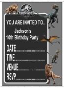 Personalised Jurassic Invites