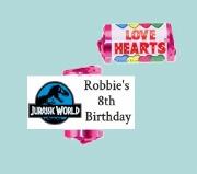 9Pk Jurassic Loveheart Sweets