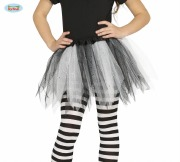 Kids White and Black Tights