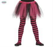 Kids Pink and Black Tights