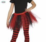 Kids Red and Black Tights