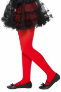 Kids Red Opaque Tights