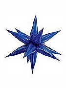 Large Blue Starburst Balloon
