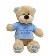 Large Blue Christening Teddy