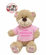 Large Christening Girl Teddy