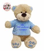 Large Blue Godfather Teddy