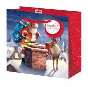 Large Rooftop Santa Gift Bag